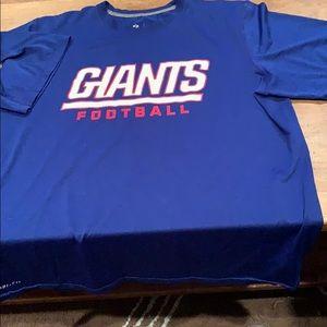 Blue DryFit NFL Giants t-shirt